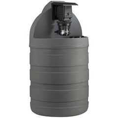 Gray Tank System with Fixed Chemical Injection Pump, #5 Santoprene Tube 30 Gallon