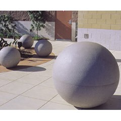 "Phoenix Precast Concrete Sphere 18"" - Smooth Finish"