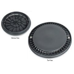 "8"" Super Low Profile Pool Main Drain Safety Cover with Frame"
