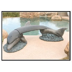 Dolphin Concrete Animal Bench