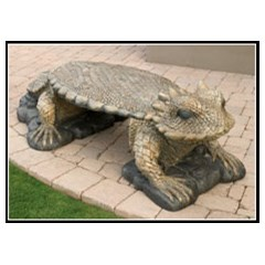 Horned Toad Concrete Animal Bench