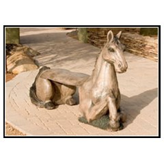 Horse Concrete Animal Bench