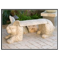 Rabbit Concrete Animal Bench