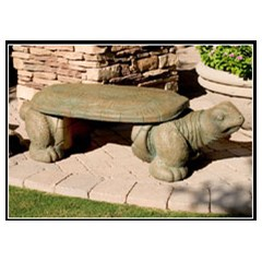 Turtle Concrete Animal Bench