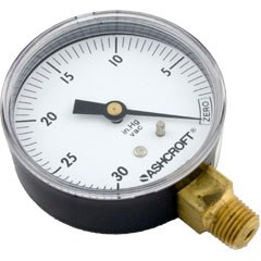"Standard Vacuum Gauge 1/4"" MPT, Bottom Mount"