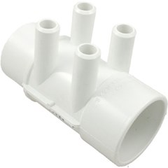 "Manifold, 2"" Slip x 2"" Spigot x (4) 3/4"" Barbs (All Point Up)"