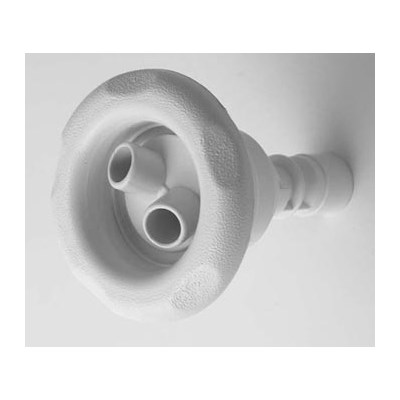 Poly Storm II Gunite Jet Internal - Rotating Dual Stream, 5 Scallop White