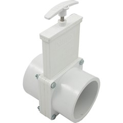 PVC 3-Piece Gate Valve, Slip x Slip, with Stainless Steel Paddles 3""