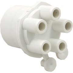"Manifold, 1"" Spigot x (5) 3/8"" Barbs with (2) Plugs"