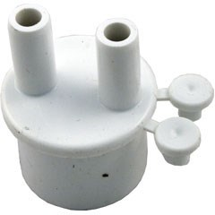 "Manifold, 1"" Spigot x (2) 3/8"" Barbs with (2) Plugs"
