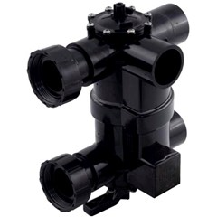2-in-1 Backwash Valve pre-plumbed with unions for DEL48 and DEL60 filters