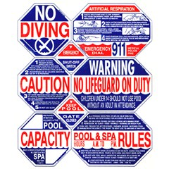 8 Way Pool Safety Sign California
