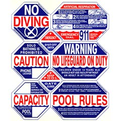 8 Way Pool Safety Sign, Nevada