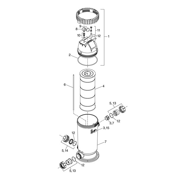 Pro Clean Single Cartridge and D.E. Cartridge Filter Image 13