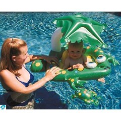 Frog Learn-To-Swim Baby Seat W / Top